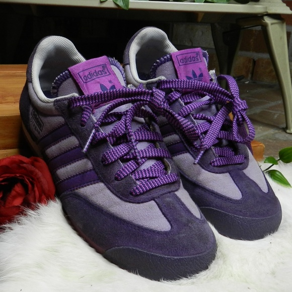 Adidas Trefoil OG original purple dragon sneakers